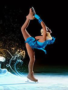 Hintergrundbilder Schlittschuh Bein Tanzen Uniform Mädchens Sport