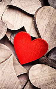 Bilder Großansicht Herz Hölzern
