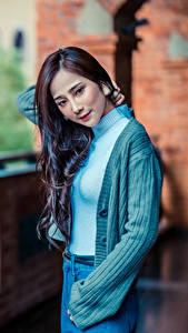 Hintergrundbilder Asiaten Posiert Starren junge frau