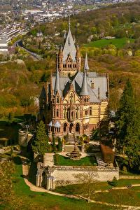 Bilder Deutschland Herbst Burg Haus Von oben Drachenburg Schloss