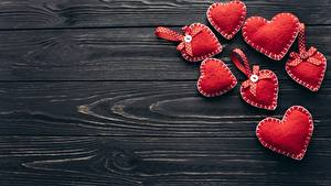 Fotos Valentinstag Herz Bretter Vorlage Grußkarte
