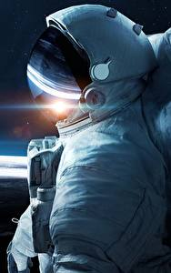 Hintergrundbilder Oberfläche des Planeten Astronauten Helm Kosmos