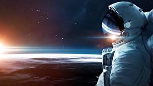 Wallpapers Surface of planets Cosmonauts Helmet