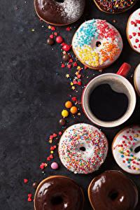 Bilder Backware Donut Kaffee Tasse Lebensmittel