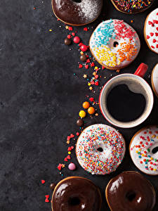 Pictures Baking Doughnut Coffee Cup Food