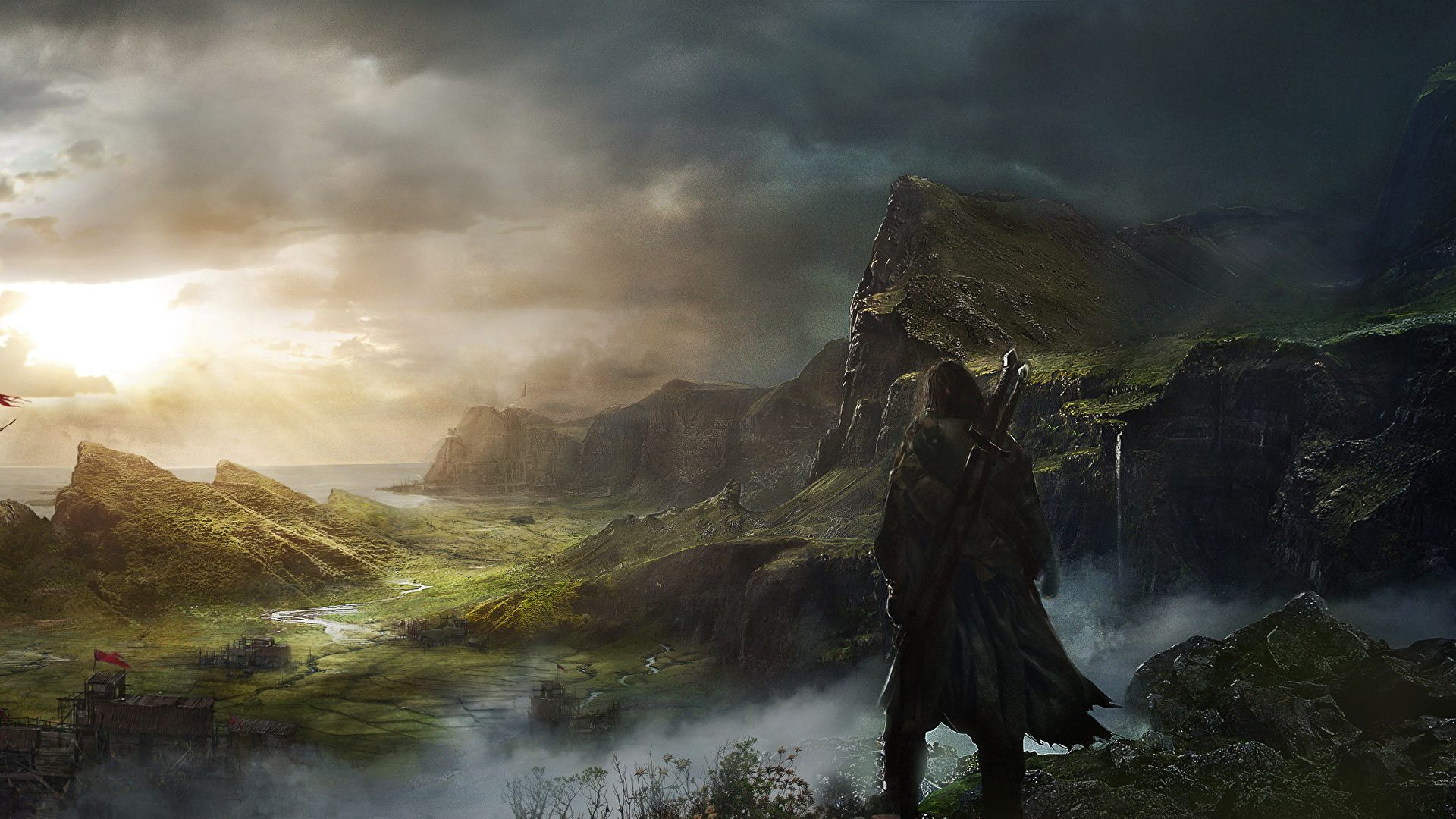 Desktop Wallpapers Middle Earth Shadow Of Mordor Warriors 1920x1080