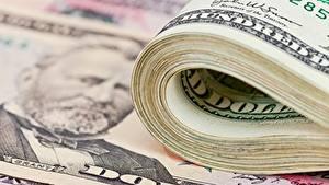 Fotos Geld Nahaufnahme Dollars