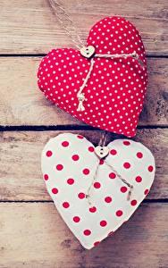 Papéis de parede Dia dos Namorados Coração Tábuas de madeira