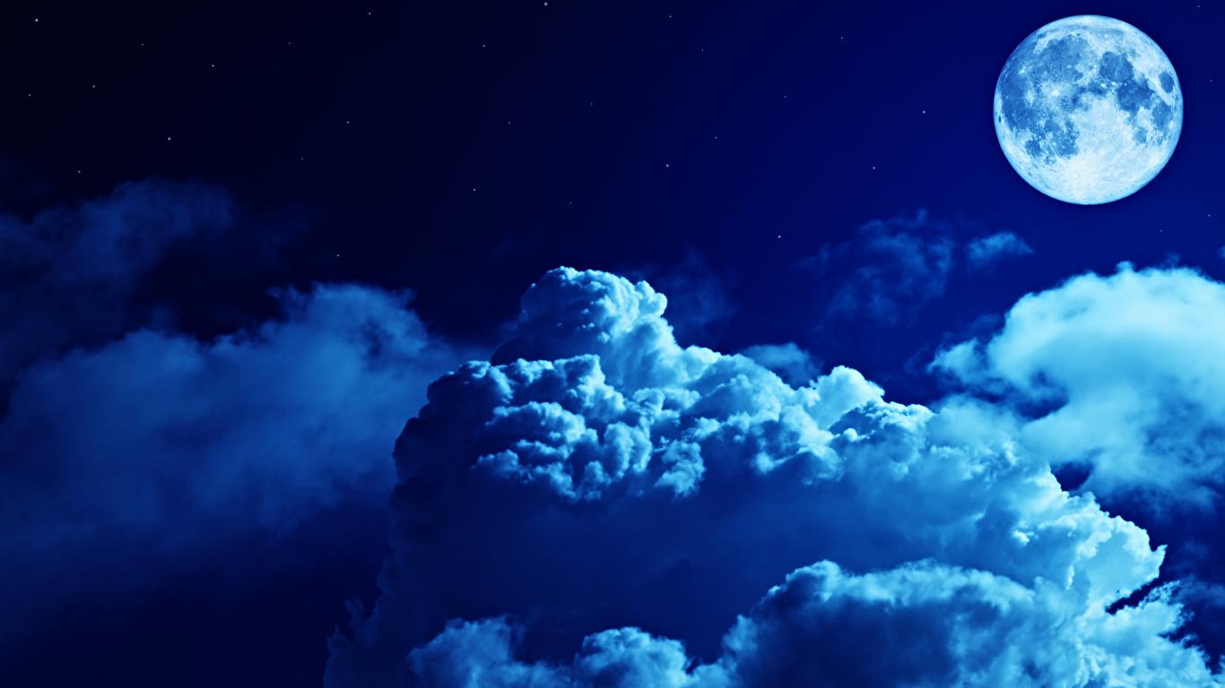壁紙 1366x768 空 夜 月 雲 自然 ダウンロード 写真
