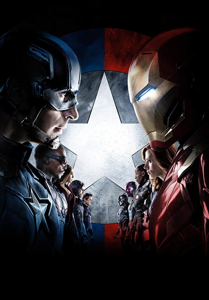 Image Captain America: Civil War Heroes comics Iron Man hero Captain America hero Steve Rogers film Celebrities  for Mobile phone superheroes Movies
