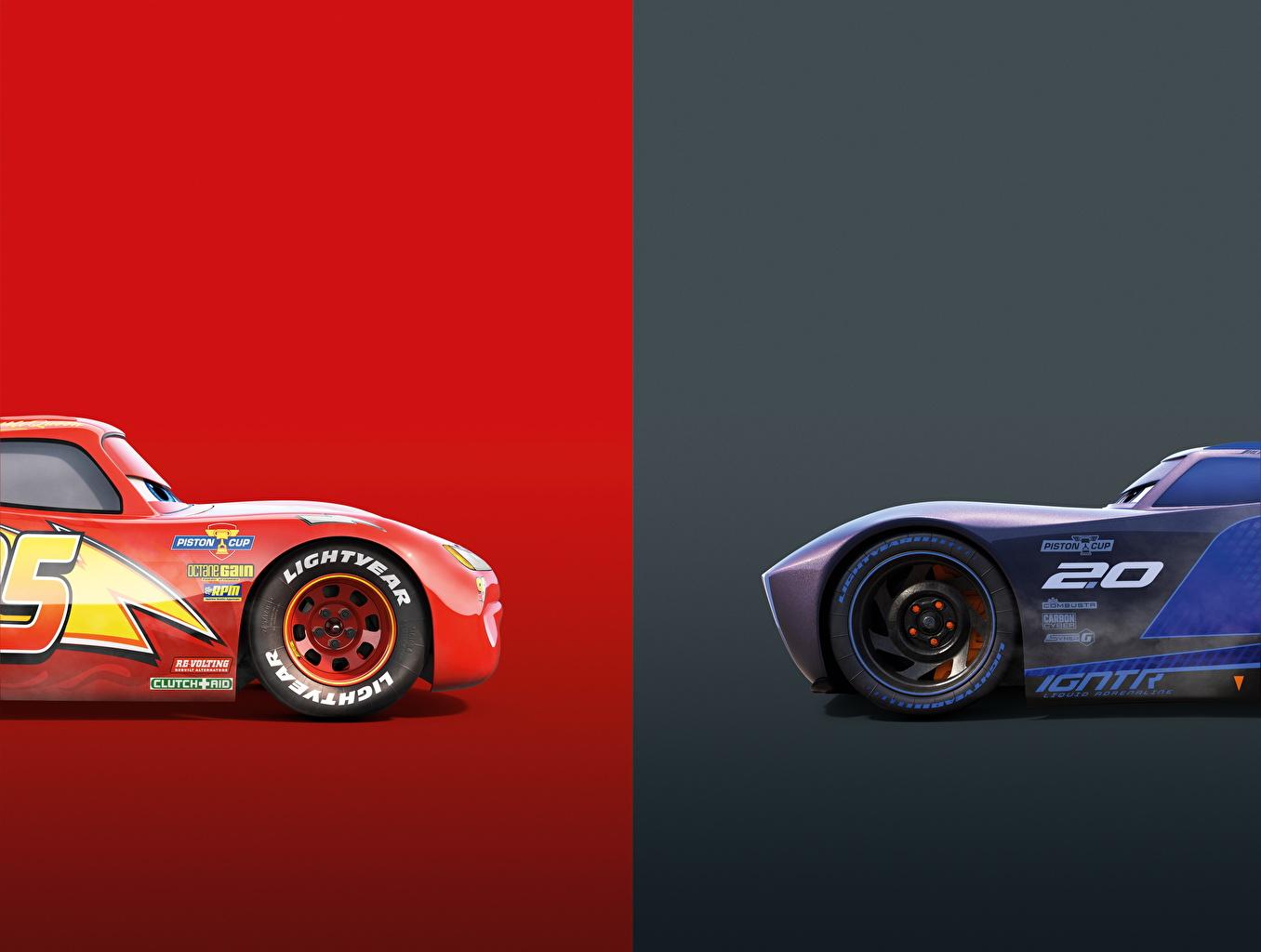 Fotos von Cars 3 Lightning McQueen, Jackson Storm Zwei Animationsfilm 2 Zeichentrickfilm