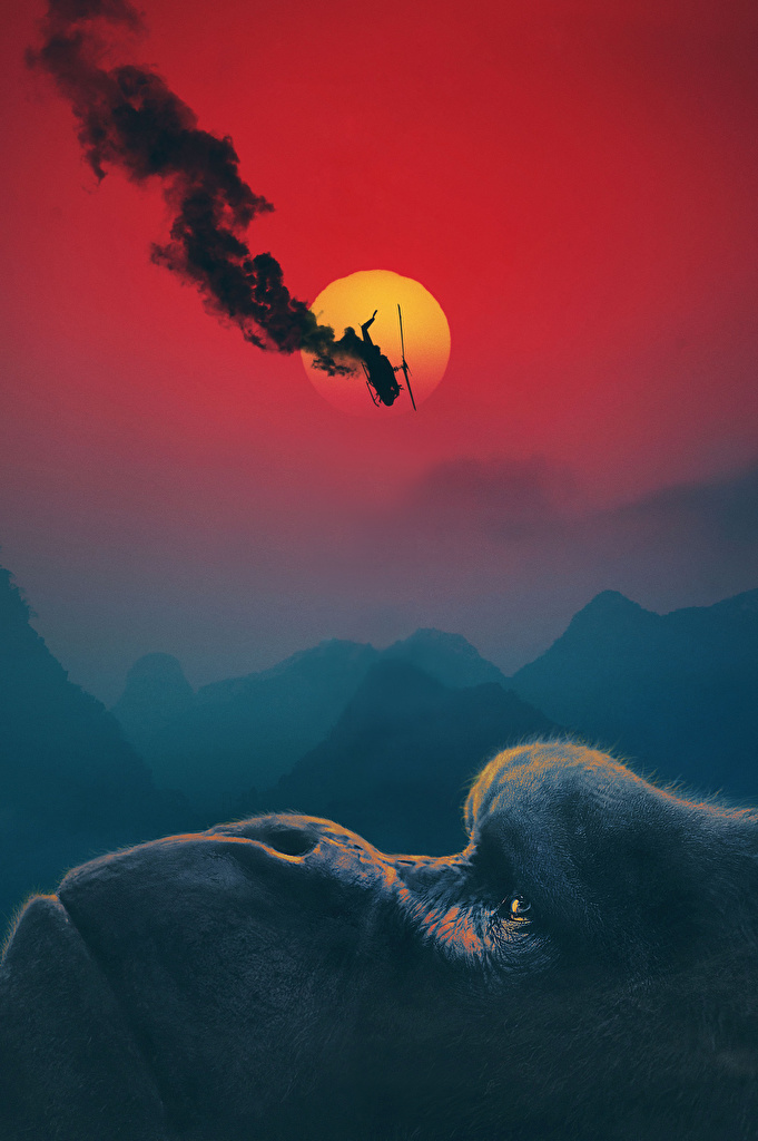 Picture Kong: Skull Island helicopter Monkeys Movies  for Mobile phone Helicopters monkey film