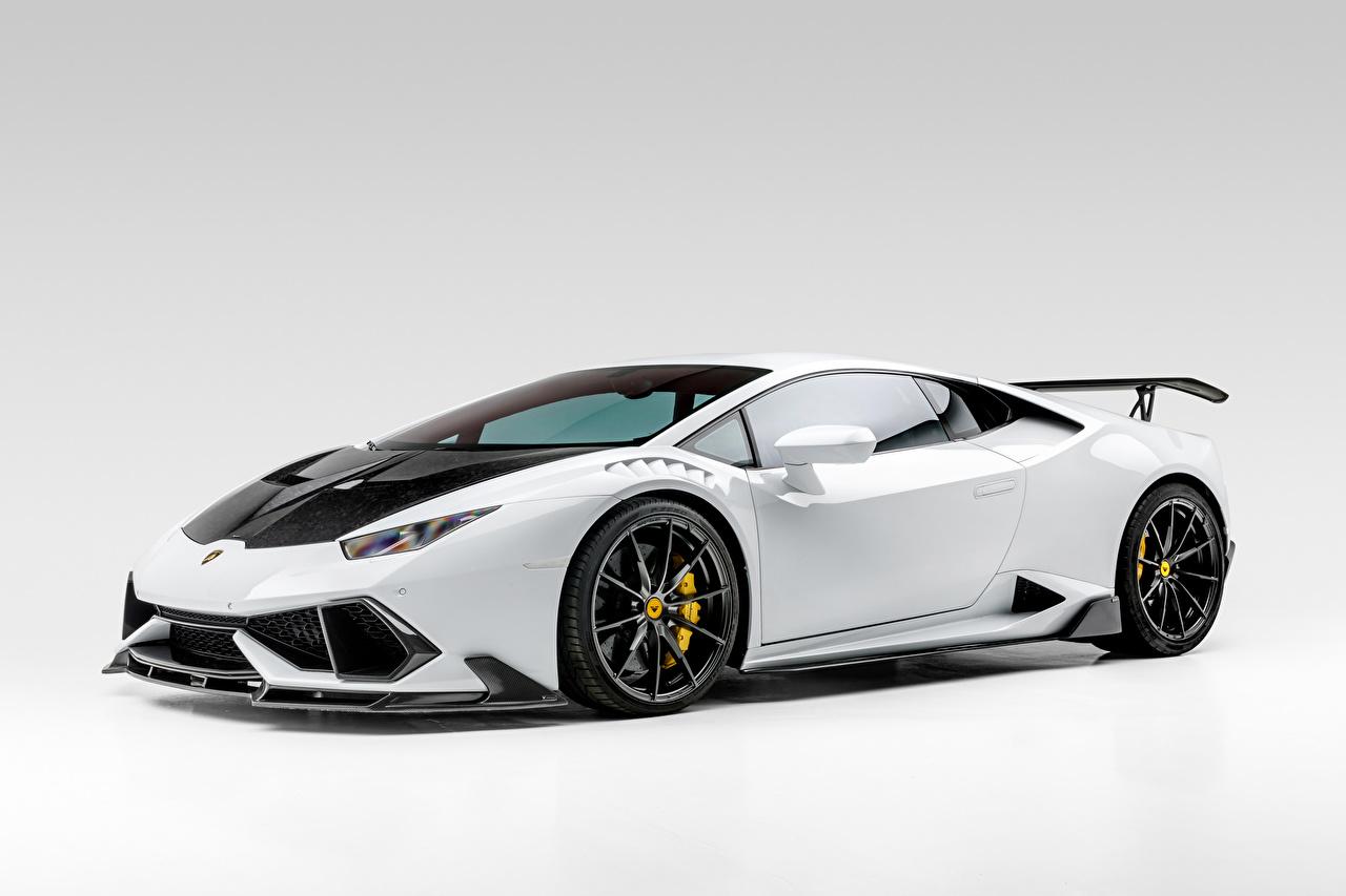 Pictures Lamborghini Huracan Mondiale Edizione 2020 White Cars Side auto automobile