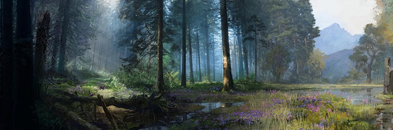 Foto Far Cry Far Cry Primal Natur Sumpf Spiele Wälder Bäume