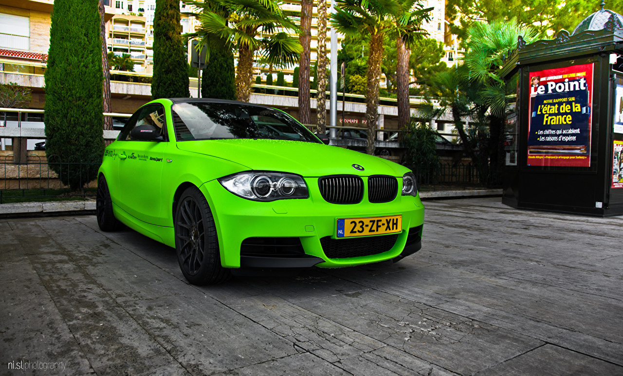 Photos BMW 1 series m1 Green Street auto Cars automobile
