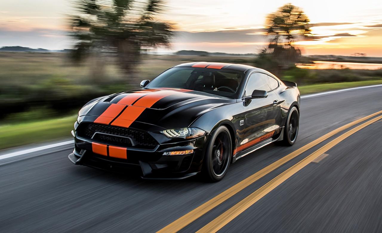 Fondos De Pantalla Ford Mustang Gt S 2019 Bokeh Movimiento Negro Tiras Coches Descargar Imagenes