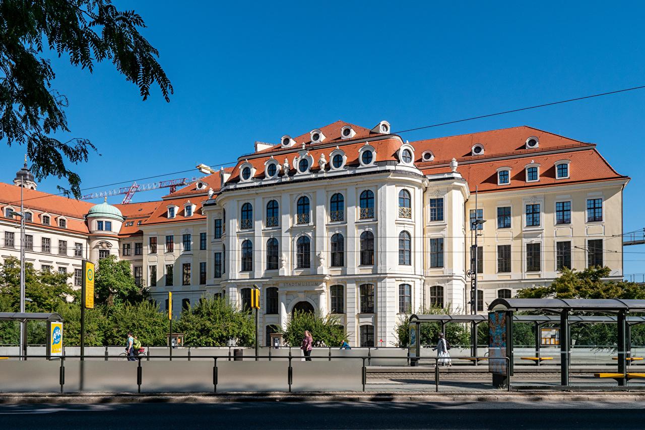 Fotos von Dresden Deutschland Museen City Museum Zaun Haus Städte Gebäude