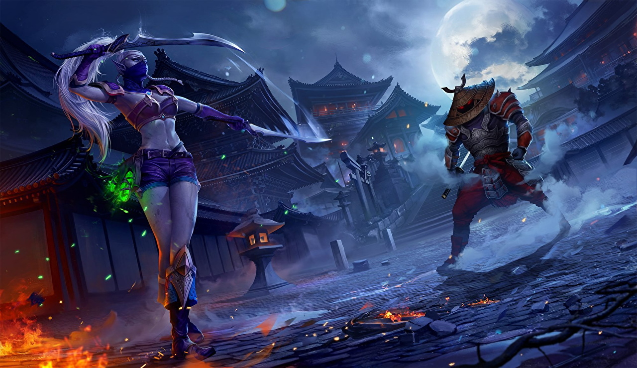 Desktop Wallpapers Ninjas Elves Warriors Juggernaut Wars