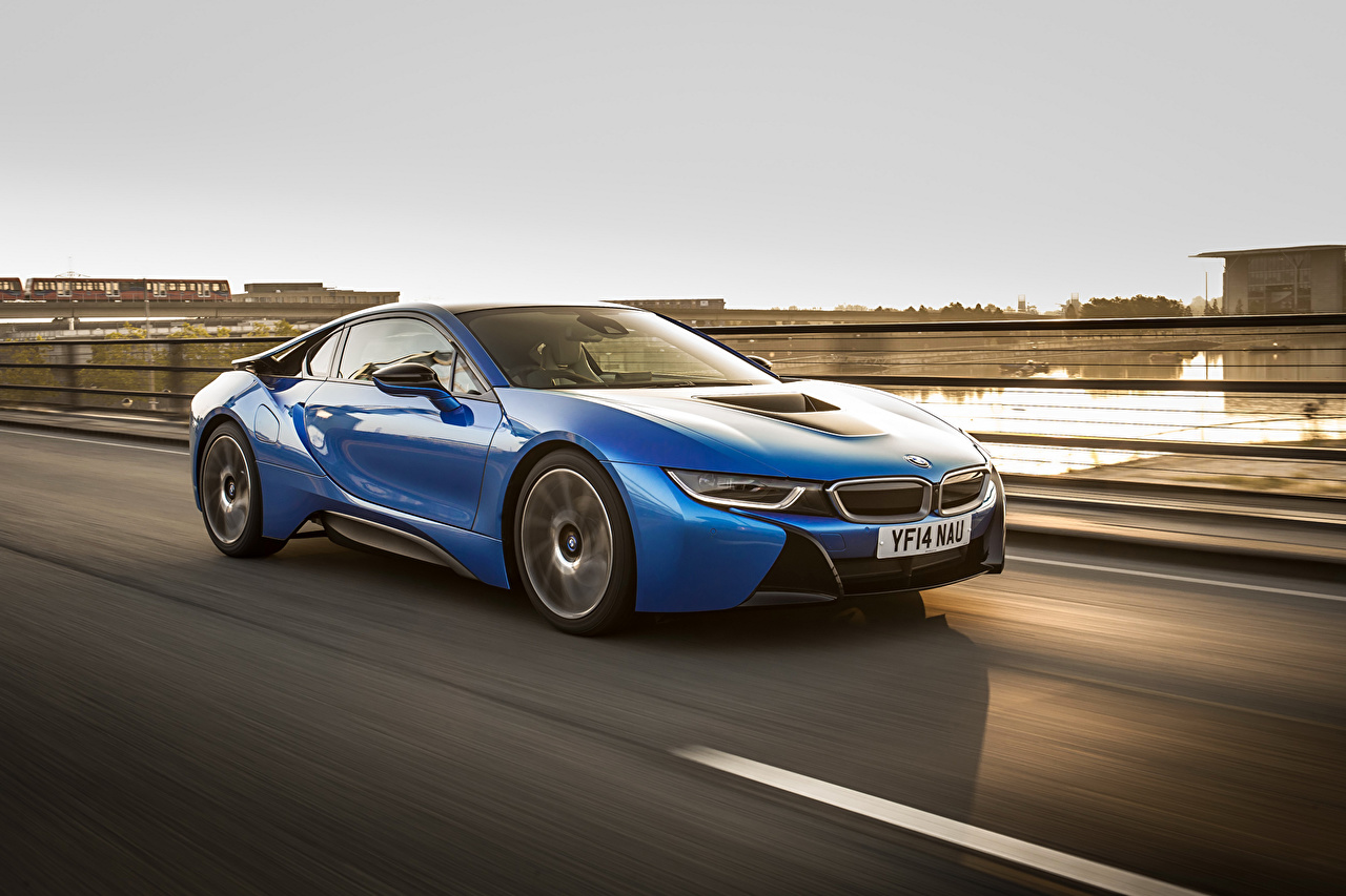 Photos BMW 2014 i8 Light Blue Cars Metallic auto automobile
