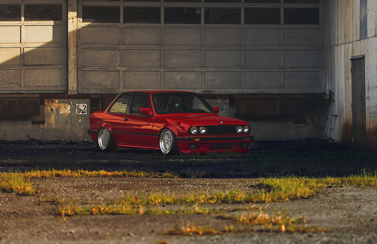 Desktop Wallpapers Bmw E30 3 Series Red Cars