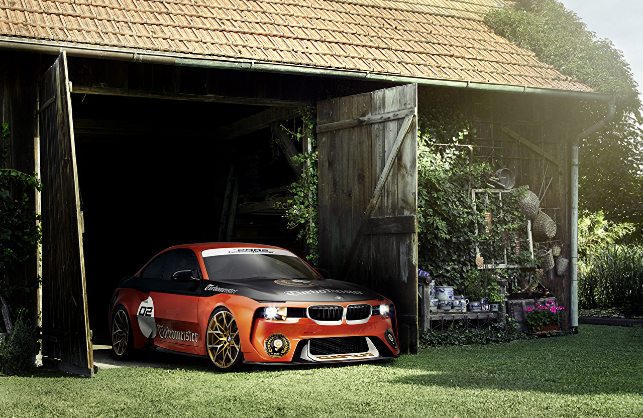 Pictures BMW Tuning 2016 2002 Hommage Concept Orange Cars auto automobile