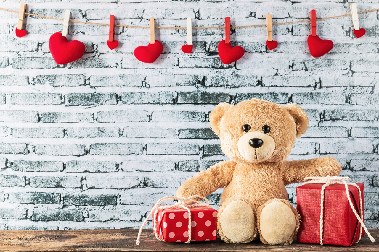 Photo Valentine's Day Heart Gifts Teddy bear present