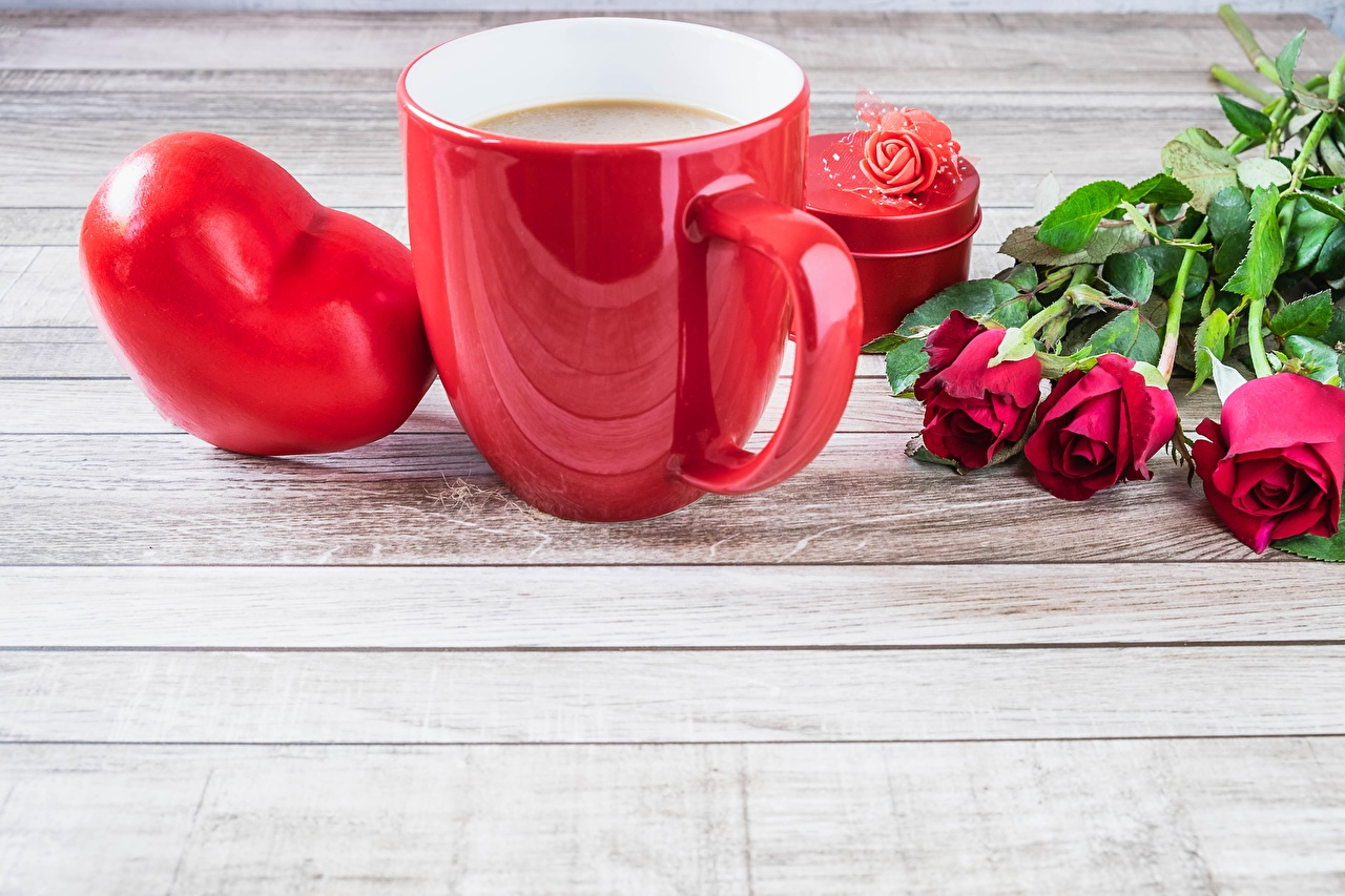Pictures Valentine's Day Heart rose Mug Food Template greeting card Roses