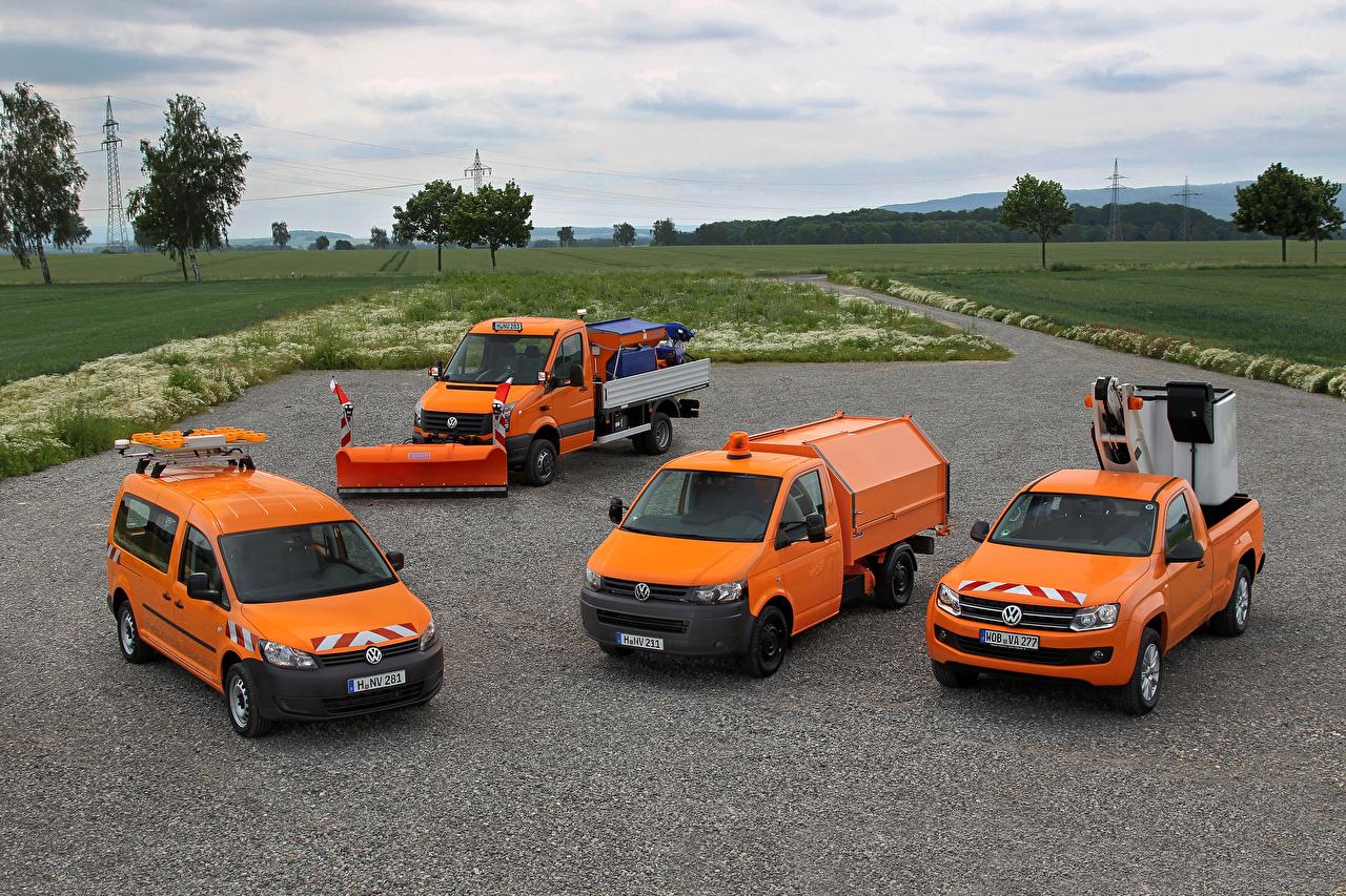 Wallpaper Volkswagen Orange auto Cars automobile