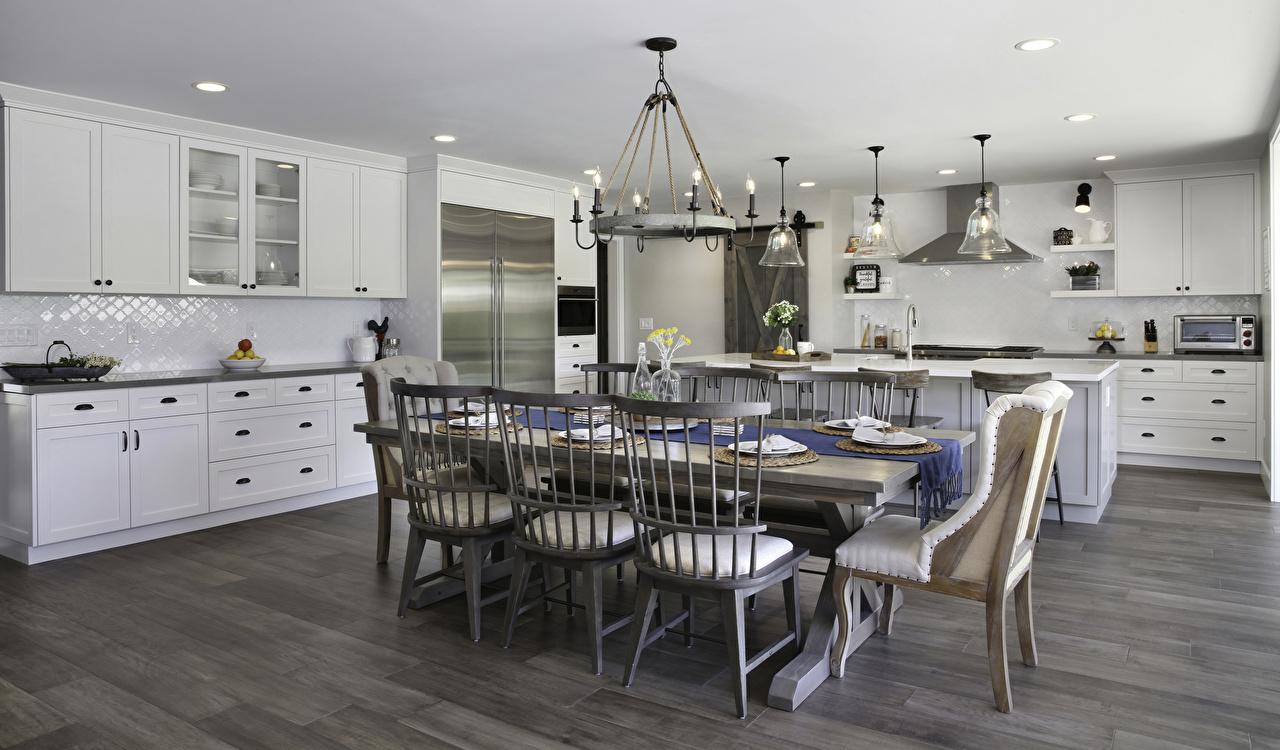 Fotos von Küche Innenarchitektur Tisch Stühle Design Stuhl
