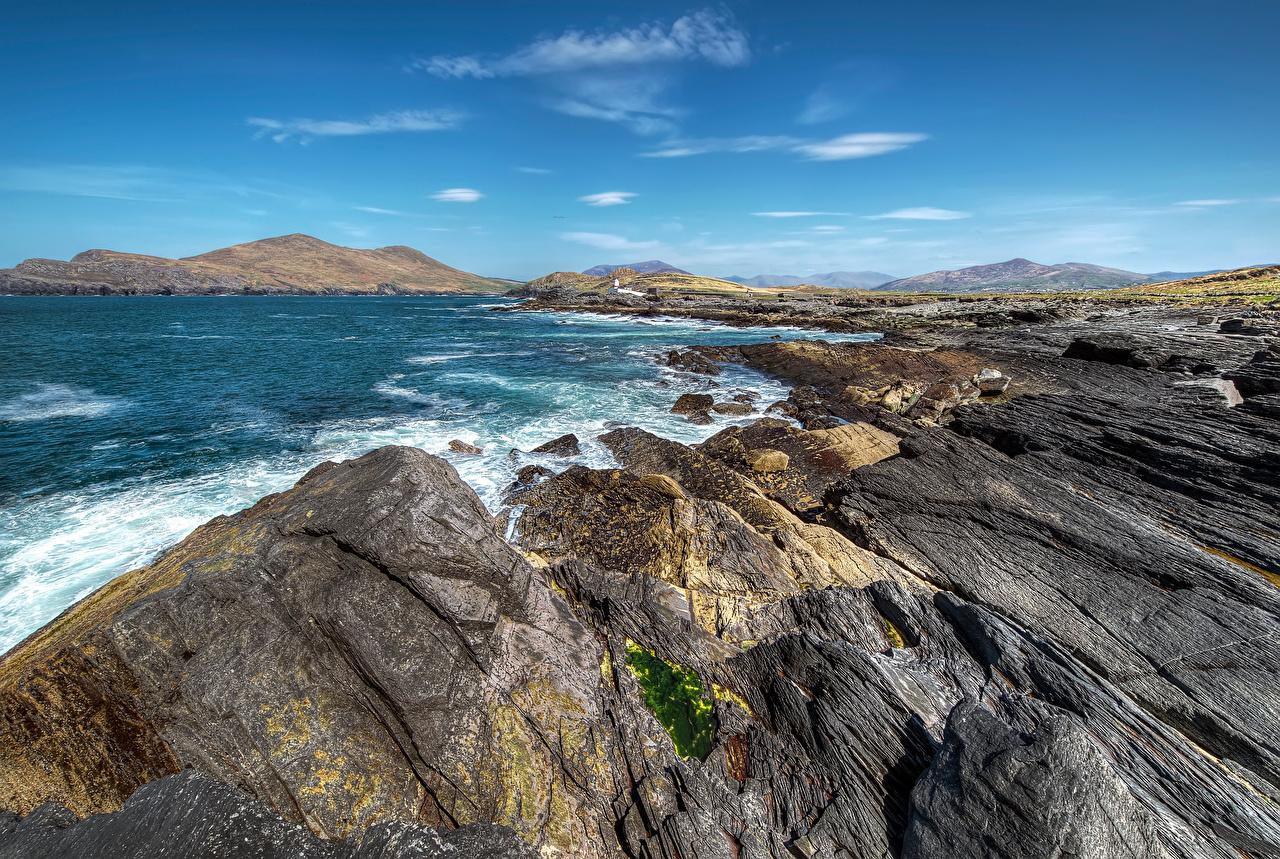 Fotos von Irland Kerry Meer Natur Felsen Himmel Küste