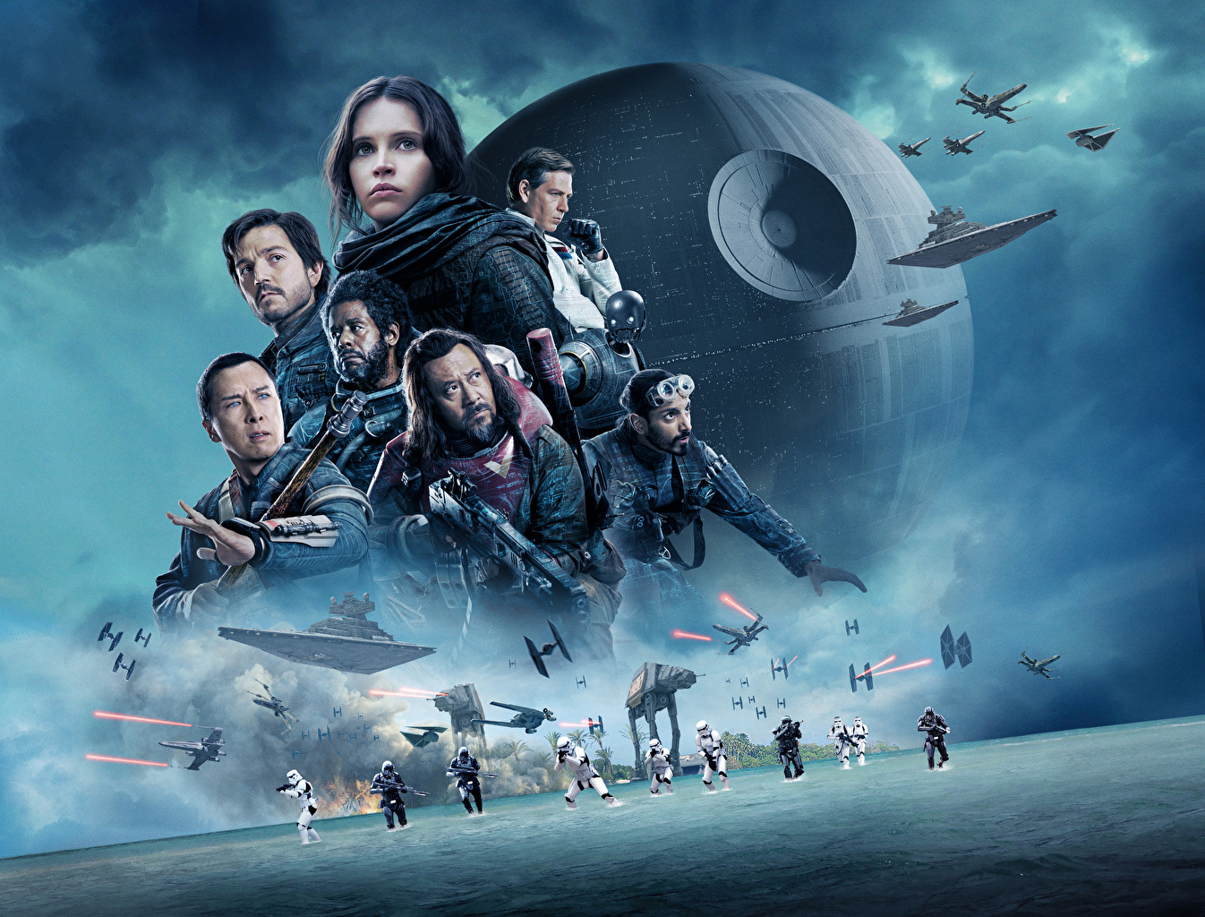 Images Celebrities Rogue One: A Star Wars Story Clone trooper Warriors Forest Whitaker, Ben Mendelsohn, Donnie Yen, Diego Luna, Riz Ahmed, Wen Jiang Felicity Jones Movies warrior film