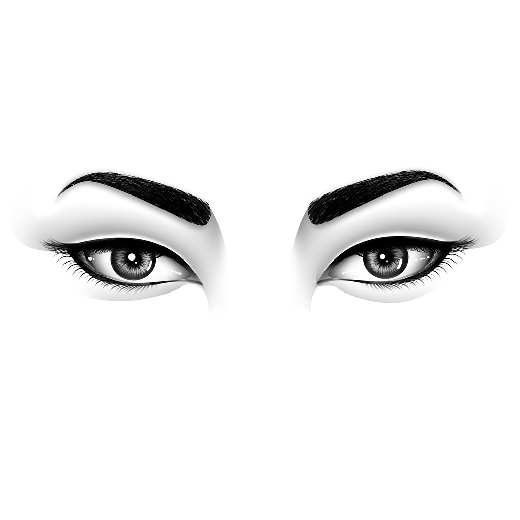Picture Eyes Glance Painting Art White Background