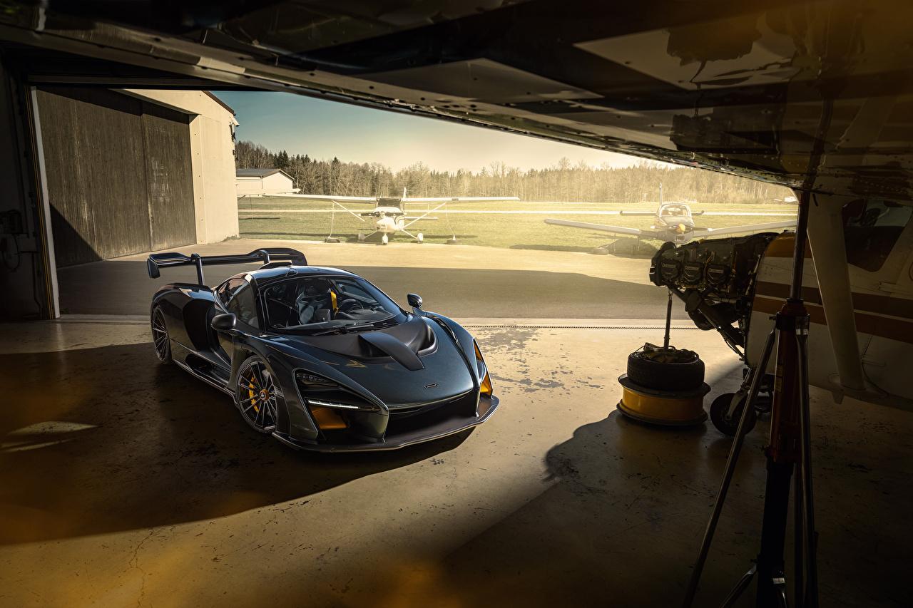 Bakgrunnsbilder til skrivebordet McLaren 2020 Novitec Senna Grå bil Biler automobil
