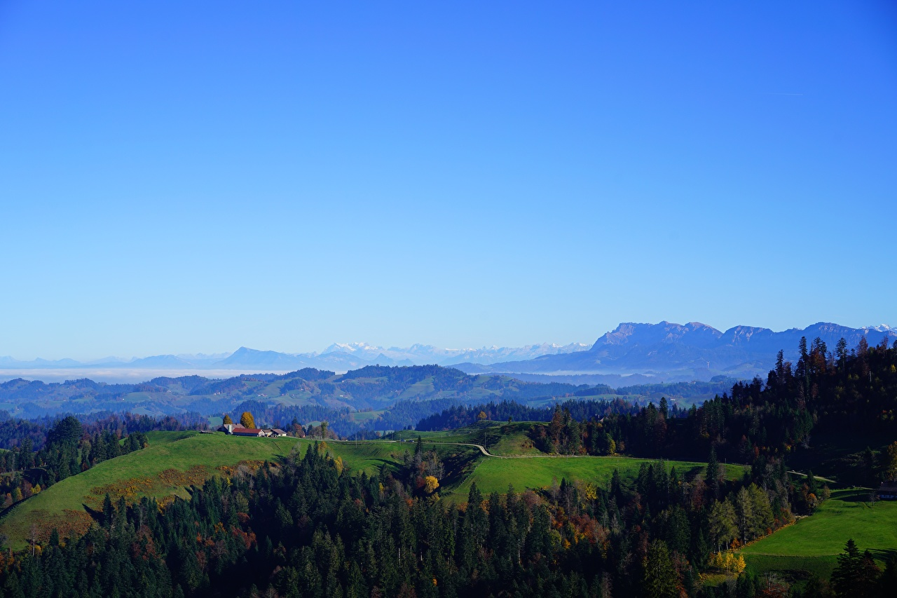 Photo Alps Switzerland Pilatus, Canton Lucerne Nature Mountains Hill forest Horizon mountain Forests