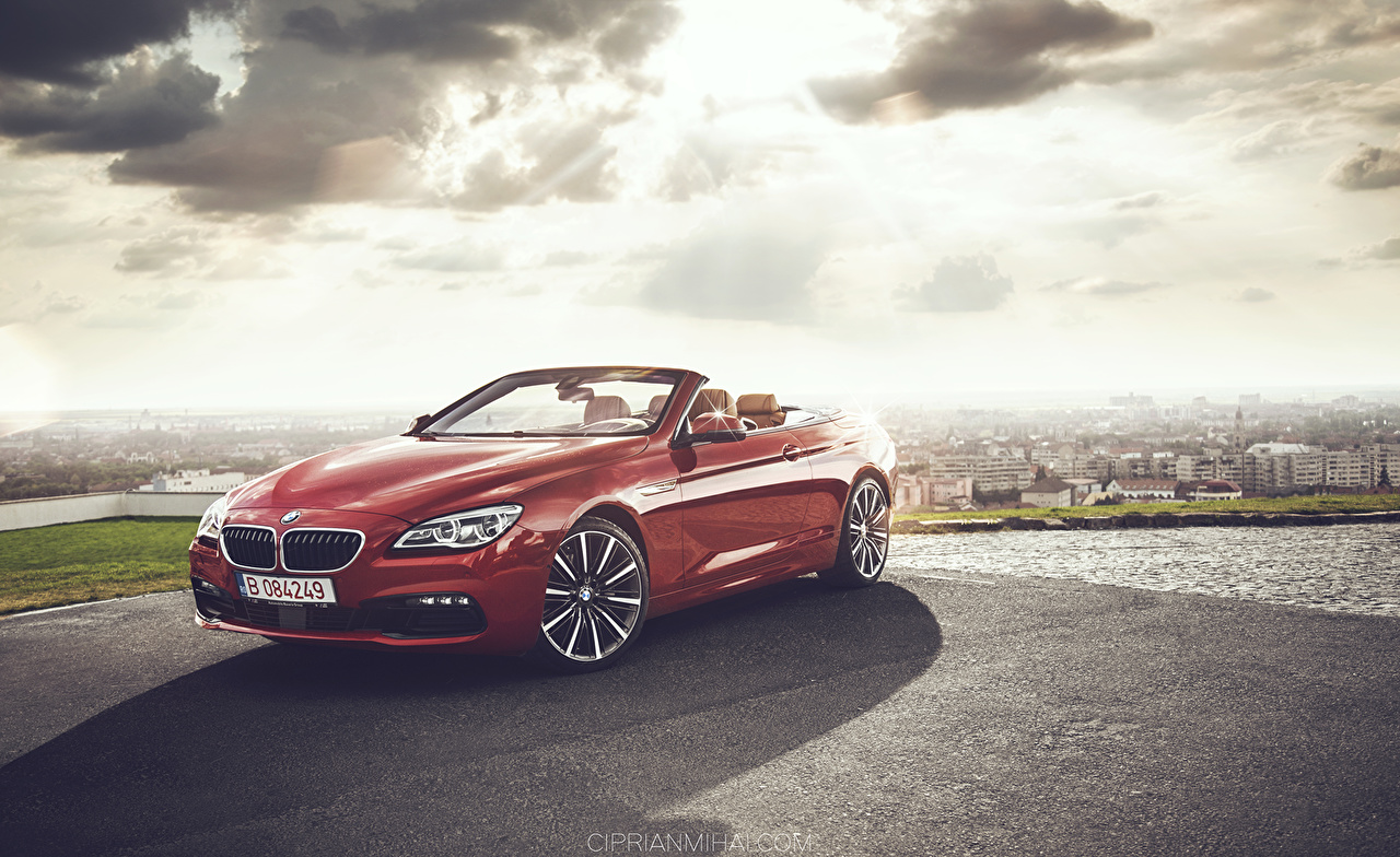 Photos BMW 640 Convertible Red auto Cabriolet Cars automobile