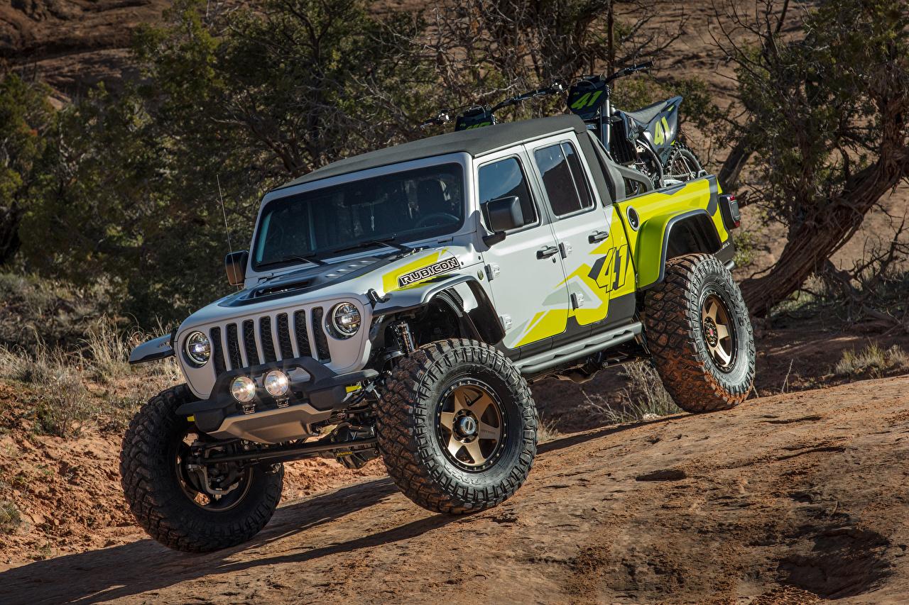 Jeep Tuning 2019 Flatbill SUV Pickup carro, automóvel, automóveis, Veículo utilitário esportivo Carros
