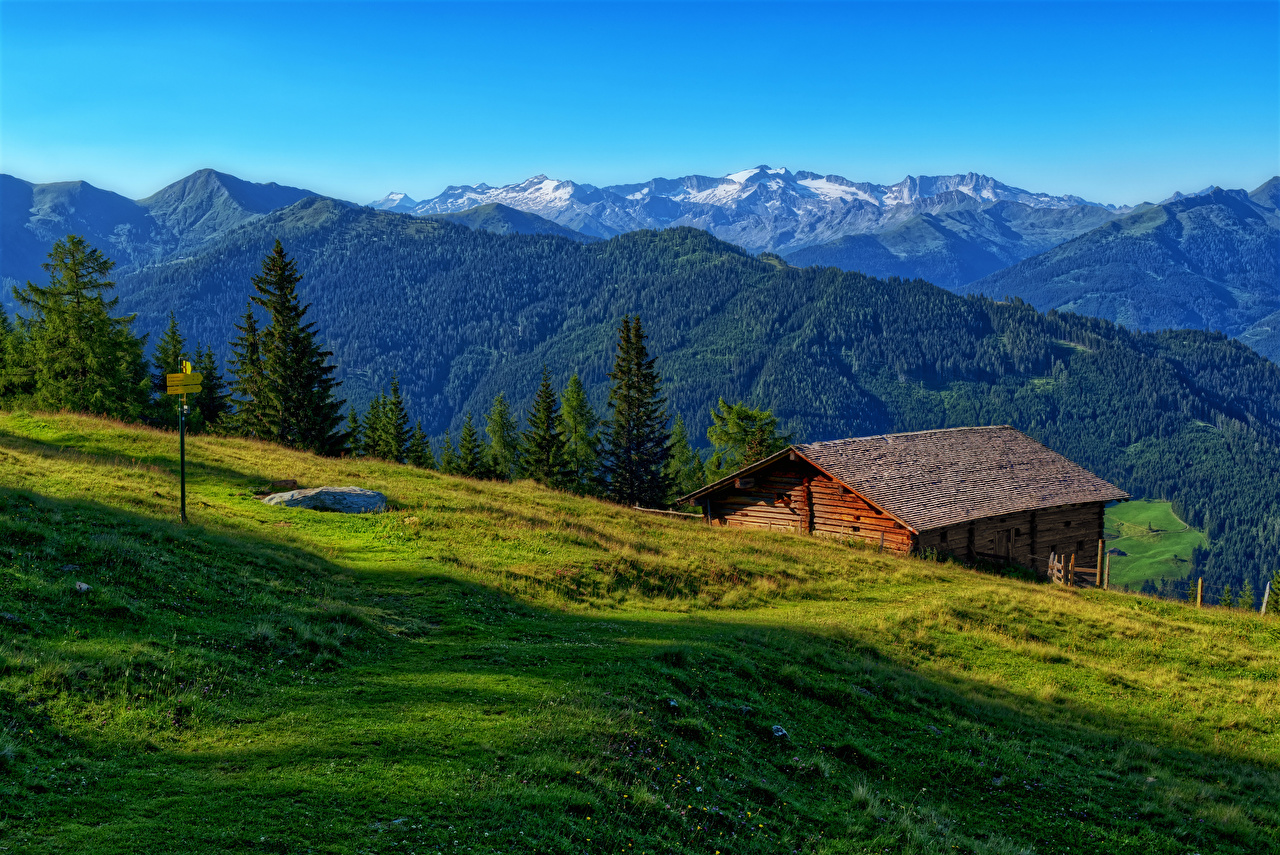 Wallpaper Alps Austria Luppitsch Styria Nature Mountains Meadow mountain Grasslands