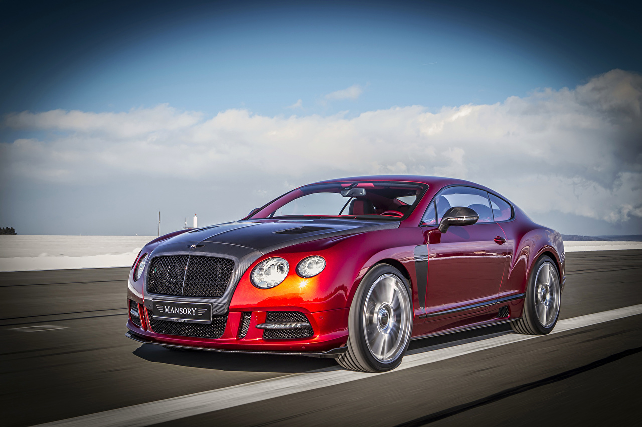 Pictures Bentley 2013 Mansory Continental GT Sanguis Red automobile Cars auto