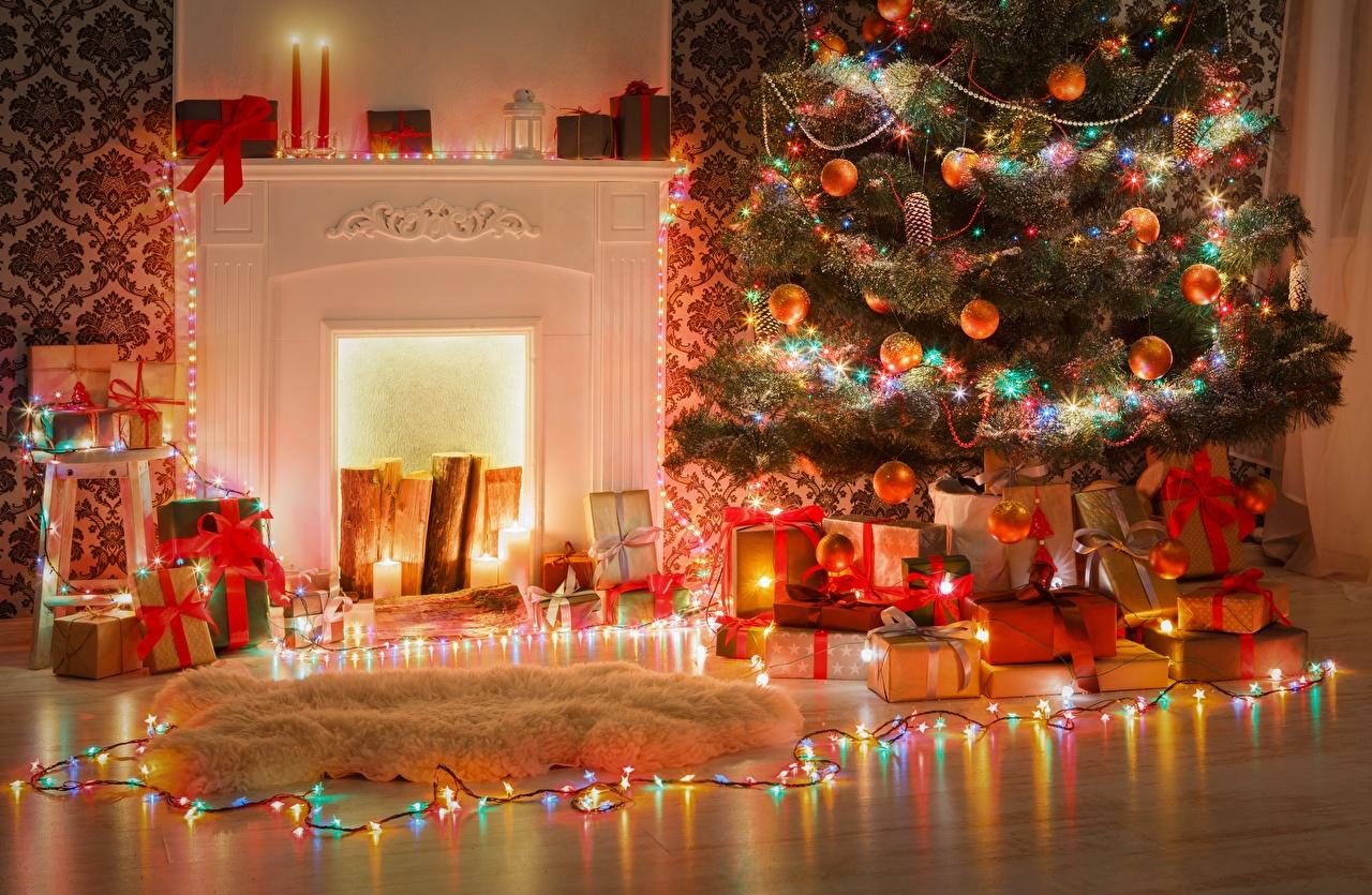 Fonds D Ecran Nouvel An Illuminations De Noel Arbre De Noel Cadeaux Telecharger Photo