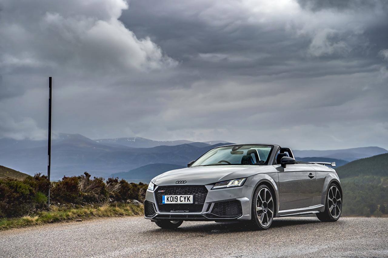 Photo Audi 2019 TT RS Roadster gray auto Grey Cars automobile