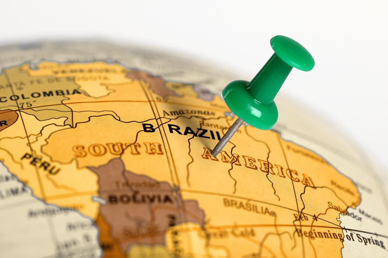 Fotos Brasilien Globus Bokeh Geographie unscharfer Hintergrund