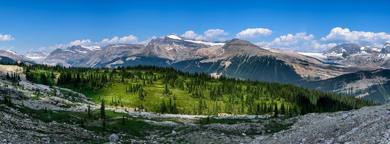 Foto Canada panoramische Yoho National Park berg Natuur Parken Landschap van Panorama Bergen park