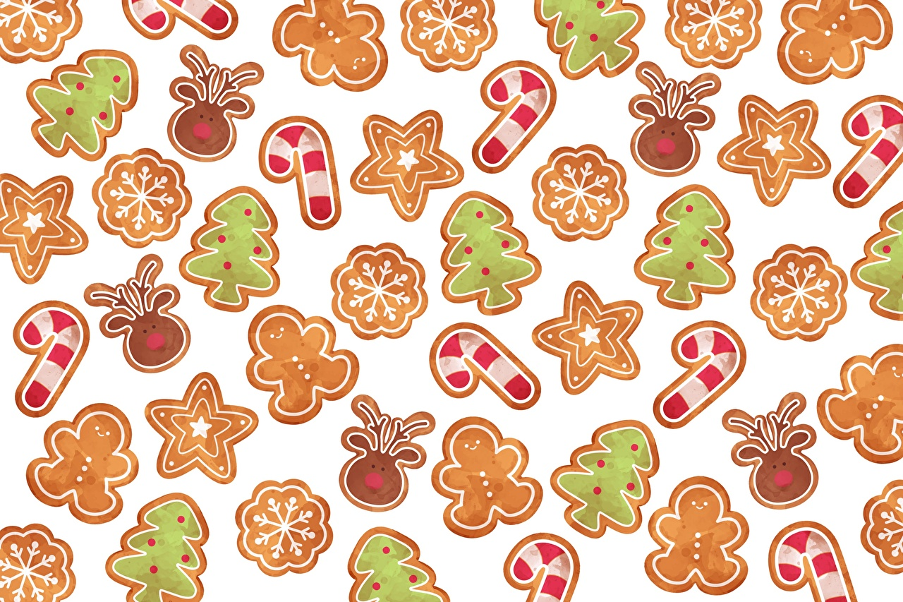 Picture Texture New year Cookies Christmas