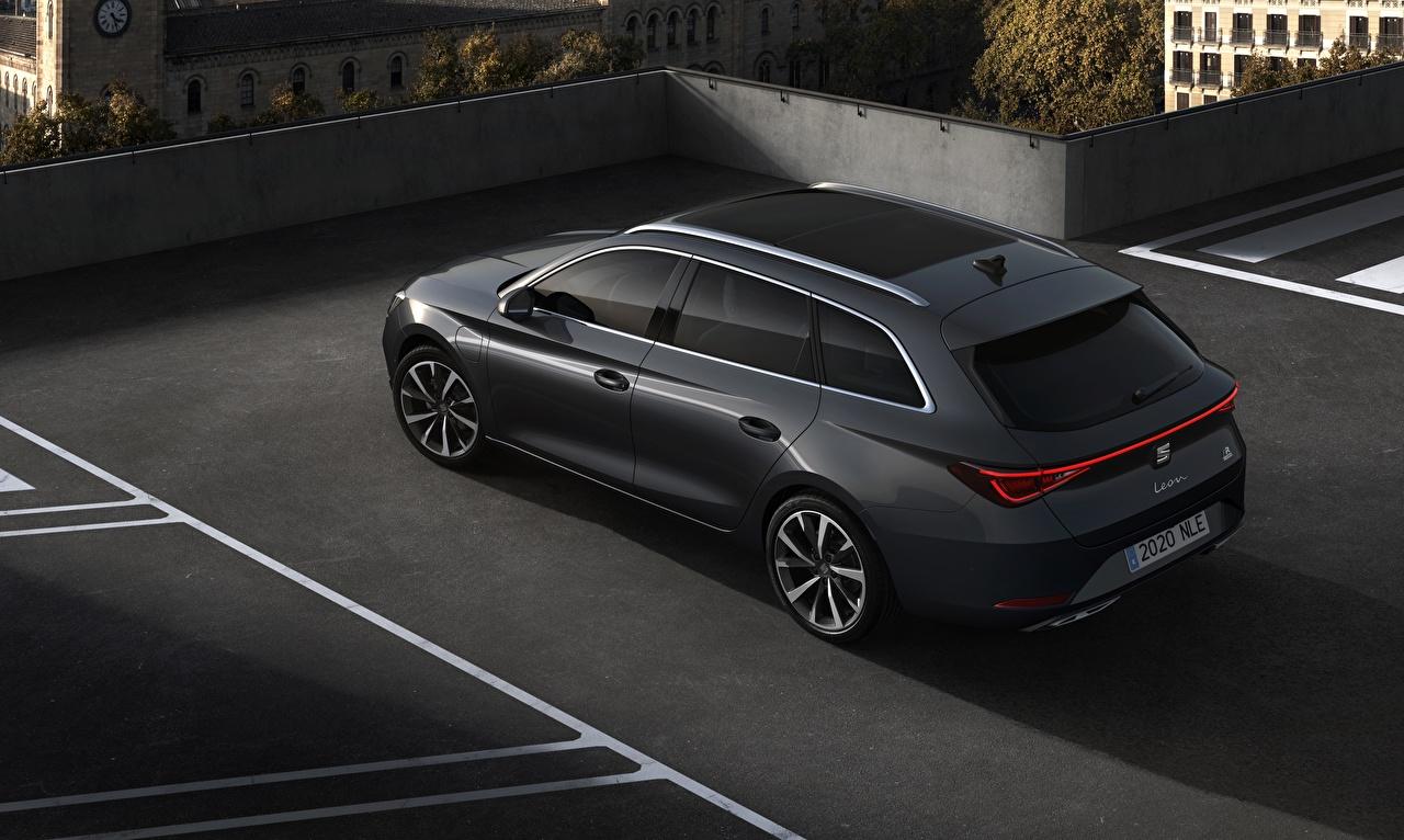 Bilder Seat Kombi Leon ST, 2020 Schwarz automobil Metallisch auto Autos