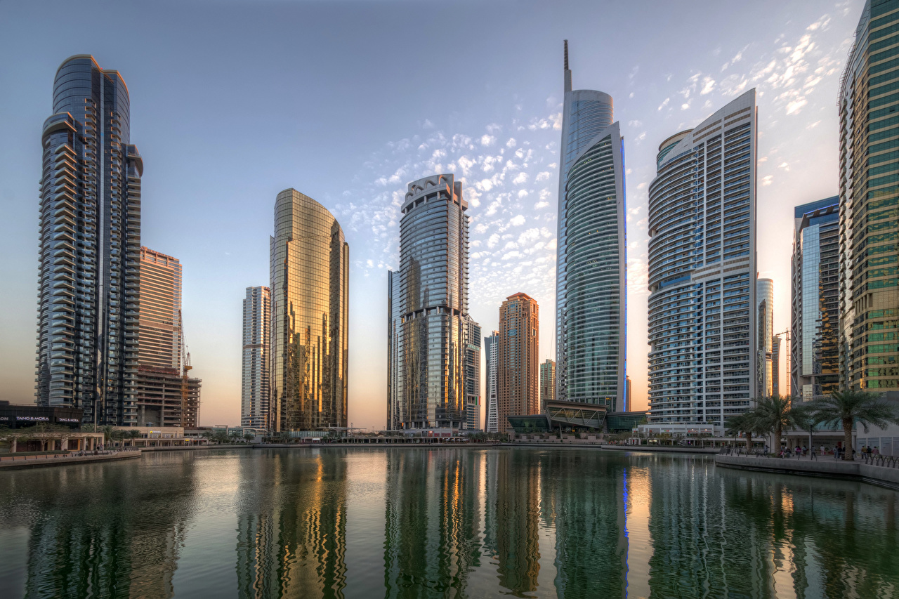Images Dubai Emirates UAE Jumeirah Lakes Towers Skyscrapers Houses Cities Building
