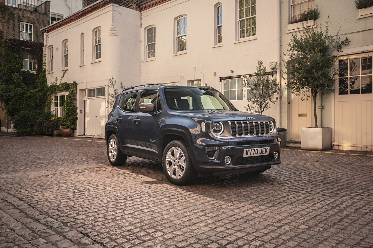 Bilder von Jeep SUV 2020 Renegade Limited 4xe graue automobil Metallisch Sport Utility Vehicle Grau graues auto Autos