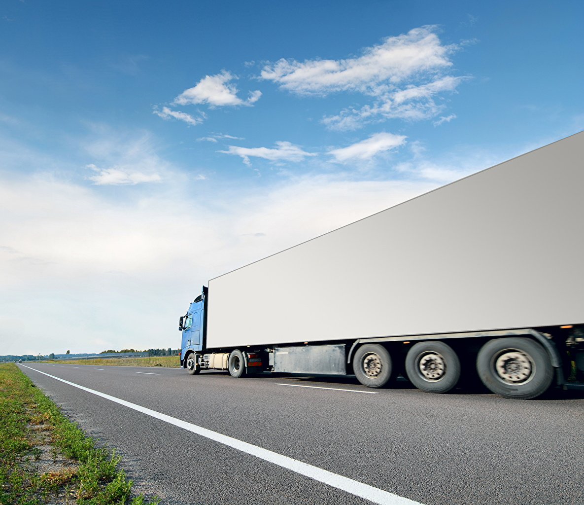 Desktop Wallpapers Trucks Sky Roads auto lorry Cars automobile