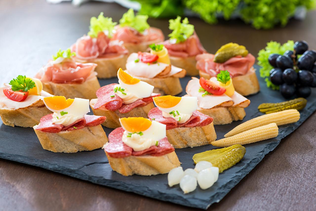 Foto Uovo Salsiccia Pane Fast food Butterbrot alimento Cibo