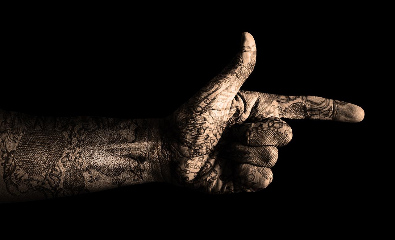 Bilder Tätowierung Hand Gestik hautnah Nahaufnahme Großansicht