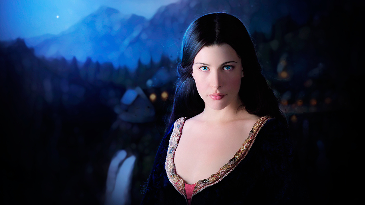 Wallpaper The Lord of the Rings Liv Tyler Girls Movies Celebrities female young woman film
